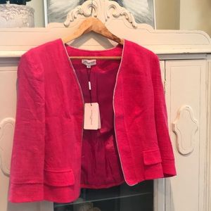 🌸NWT🌸 Almost Famous Pink linen/cotton jacket